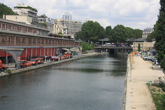 Canal St Martin (lazy south's travels) Tags: paris france french urban capital city building architecture canal water way waterway europe european
