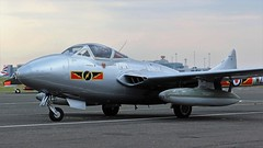 CLOSE UP WZ447 DE HAVILLAND VAMPIRE NEWCASTLE AIRPORT (toowoomba surfer) Tags: aircraft aviation aeroplane ncl egnt