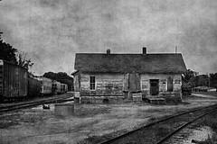 Crivitz (David Sebben) Tags: black white monochrome milwaukee road depot railroad crivitz wisconsin trains