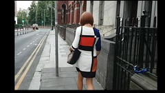 Dublin walk (eileen_cd) Tags: video dublin walkimg sidewalk summer colourblock dress crossdresser transvestite cd tv