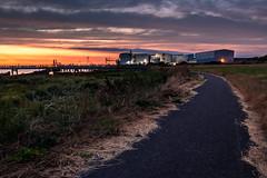 Concrete Barges at Blue Hour (Alan Dell) Tags: rainham barges concrete rainhammarshes bluehour nightphotography landscape nicelight colours longexposure essex havering water thames river riverside aftersunset