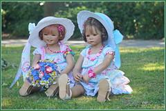 Sanrike und Milina ... Zwei, die sich lieben ... (Kindergartenkinder 2018) Tags: havixbeck burg hülshpff annette himstedt dolls sanrike milina sommer