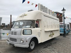 Vintage Vehicle - Leyland / Austin FG - Albert Dock - Liverpool, England. (firehouse.ie) Tags: august2018 merseyside albertdock liverpool antique truck fourgon van vehicule vehicle vintage britishleyland bl austinrover leylandfg austinfg austin leyland