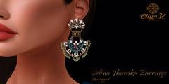 Eliya.k - Selina Jhumka Earrings (eliyakay) Tags: secondlife sl jewelry jhumka earrings indian pakistani wedding virtualworld fashion mesh 3d virtual lelutka