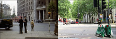 Aldwych`1950-2018 (roll the dice) Tags: london westminster wc2 old local history streetfurniture architecture sad mad changes collection canon tourism tourists retro bygone fifties nostalgia comparison oldandnew pastandpresent hereandnow urban england uk classic art coppers helmet police oldbill uniform bobbies trees traffic cars vanished demolished site fashion orangesandlemons bus travel transport grade2 listed aecregent rt van dirty lights policeman hot sunny weather summer