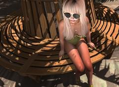 Luxury Poolside (heldaremple) Tags: sl slphotograpghy beach model avitar blonde hot sun vacation surf relax drinks summer