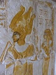 Osiris & Nephthys, Tomb of Maya, Saqqara (Aidan McRae Thomson) Tags: saqqara tomb relief carving painted ancient egypt egyptian