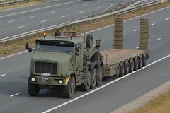 HF53 BCZ (panmanstan) Tags: oshkosh army wagon truck lorry freight heavy haulage lowloader transport vehicle a1m fairburn yorkshire