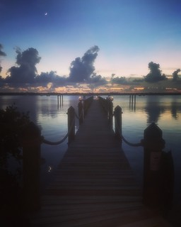 View of jetty at Coconut Palm Inn