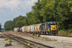CSX A718 at Wyvern Yard (travisnewman100) Tags: csx a718 train railroad rr freight manifest local etowah subdivision atlanta division ooc 4180 emd gp382 yard locomotive