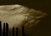 Incoming Monsoon Anvil Cloud (oybay©) Tags: clouds monsoon arizona suncitywest cloudy sepia cumulonimbus incus nature azfamily azcentral cloud
