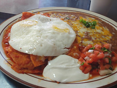 Chilaquiles for Lunch (mrusc96) Tags: chilaquiles mexico restaurant tios mexicanfood huevos