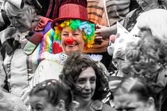Clown (Tony Shertila) Tags: ©2018tonysherratt liverpool england unitedkingdom 20180728110040liverpoolpridemarchlr europe britain merseyside stgeorgeshall pride lbgt rainbow people faces crown march festival colours
