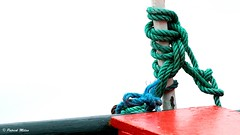 Green rope (patrick_milan) Tags: green rope corde bout bateau ship boat fishing red rouge vert