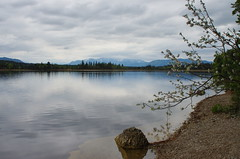 Lakeview (pentars) Tags: landscape lake water mountains clouds reflection scenery view beautiful nature stone shore vivid wide angle pentax k5ii fa 2490 sky