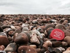 Please Recycle (dannyboyx) Tags: seaside shinglestreet shingle litter beachcombing beach plasticplanet plastic bottlecap recycle