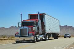 Kenworth W900L (Trucks, Buses, & Trains by granitefan713) Tags: kenworth kenworthtruck bigrig heavyduty truck sleeper sleepertractor kenworthw900l w900l reefer reefertrailer van longvan longhood