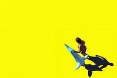 La pesca miracolosa (meghimeg) Tags: 2018 lavagna giallo yellow gelb donna woman squalo shark ombra shadow sole sun