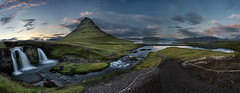 Kirkjufell before sunset (roelbleeker) Tags: red blue green yellow white river lake kirkjufell mountain smooth exposure landscape mountainscape nikon d750 2401200 f40 iceland snaefellsnes reflection reflections grass clouds sky waterfall waterfalls