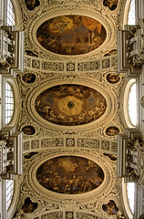 Ceiling frescoes in St. Stephen's Cathedral in Passau (Kat-i) Tags: ceilingfrescoes ststephenscathedral stephansdom passau deckenfresken barock dom innenansicht bayern bavaria germany deutschland baroquearchitecture nikon1v1 kati katharina 2018