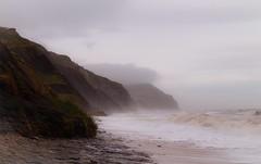Rainy day at the beach (jmiller35) Tags: ngc seascape landscape uk greatbritain surf waves sea water cliff ukbeaches canon misty rain storm beach dorset