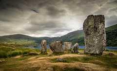 Uragh Stone Circle (Kevin_Barrett_) Tags: ireland kerry beach stone landscape sky megalithic ancient monument pagan