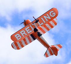 Stearman of The Flying Circus Wingwalking Team (rac819) Tags: oldwarden shuttleworthcollection shuttleworthtrust ukairdisplays family display extremeaerobatics aerobaticteam aerobatics wingwalker stearman