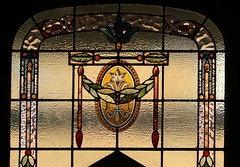 Stained Glass Window - McGregor House Museum - Kimberley (24) (Explored) (Richard Collier - Wildlife and Travel Photography) Tags: stainedglass stainedglasswindow stained southafrica mcgregorhousemuseum kimberley
