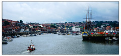 Whitby Harbour (Photography And All That) Tags: whitby harbour whitbyharbour moody mood cloud cloudy ship ships boat boats yorkshire yorks water waters sea seas building buildings masts docks ripples sky colour colours quay quayside quays town towns panorama panoramas panoramic flag flags crane cranes keel keels floating sailing sony sonyalpha7mark3 sonyilce7m3 sonyalpha ilce7m3 townscape