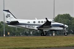 G-MOSJ BEECH  KING AIR C90 NEWCASTLE AIRPORT (toowoomba surfer) Tags: generalaviation aircraft aviation aeroplane ncl egnt
