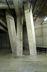 Brutalism (scott_steelegreen) Tags: brutalist modernist architecture concrete columns basement structure