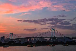 Tokyo sunset scenery
