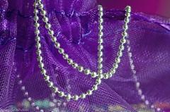 see-through organza (sure2talk) Tags: macromondays mesh seethroughorganza organza jewellerybag chain silver purple nikond7000 nikkor85mmf35gafsedvrmicro macro closeup