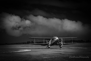 Dark skies over this Dragon Rapide