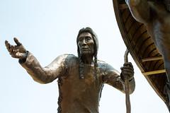 Elder (Lester Public Library) Tags: bronze sculpture bronzesculpture monument spiritoftherivers spiritoftheriversmonument art artist wallen skipwallen rtwallen tworiverswisconsin lakemichigan tworivers americanindians nativeamericans