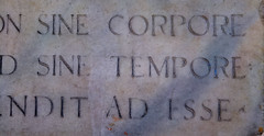 Sine Tempore (little_frank) Tags: sinetempore withouttime latin plate paviacastle lombardia northernitaly memory roman time past memories think thinking ancient italian