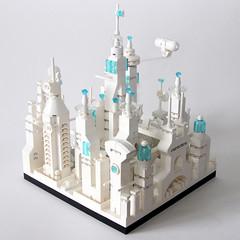 Lego Metropolis: Administration 4/4 (Klaus Hoffmeister) Tags: lego microscale moc afol metropolis architecture white cyberpunk scifi