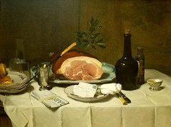 Philippe Rousseau 1816-1887,Still Life with Ham 1870s,oil on canvas (marcos2077) Tags: metropolitanmuseumofart