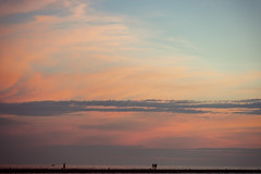 Holland Sunset Pier Walkers (matthewkaz) Tags: holland lakemichigan lake water greatlakes sky clouds sunset silhouette reflection reflections summer michigan 2018 people boat