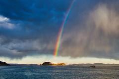 Arco Iris en el Lago Titicaca, Puno, Perú (Andrés García Avila) Tags: puno arcoiris perú titicaca paisaje