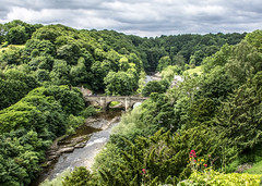 View of Bridge over River Swale (Have Cam Will Travel.) Tags: yorkshire rivers landscapes countryside richmond trees
