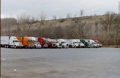 Trucks (mgheiss) Tags: lkws trucks us amerika truckstop 1996 canon slr t70 analog film