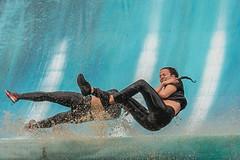 mid air (stevefge) Tags: 2018 berendonck strongviking viking water endurance run nederland netherlands nl gelderland nederlandvandaag reflectyourworld blue candid girls splash sport action