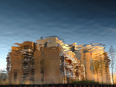 Building the Tremor (andressolo) Tags: reflections reflection reflected reflejos reflejo ripples canal water distortions distortion building buildings hackney homes london uk