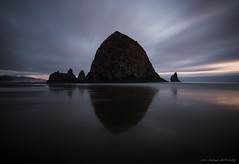 Oregon Coast Gem (Chris Lakoduk) Tags: haystackrock oregoncoast cannonbeach landscape sand ocean beach longexposure