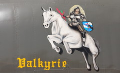 Valkyrie Nose Art (Jay Costello) Tags: arizona aviation pimaairandspacemuseum tuscon military valkrie noseart horse white norsewman norseman viking