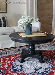Round Black Coffee Table-5 (Phoenix Restoration | Furniture by Christina) Tags: phoenix restoration general finishes lamp black coffee table eclectic painted furniture