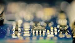 Artificial Intelligence (setoboonhong) Tags: macro monday insideelectronics remote control garage chip board ledlight naturallight bokeh blur