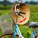 Vietnamese hat hanging on a bicycle