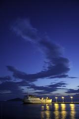 Enjoy the silence (amfipolos) Tags: bluehour dusk sunset sundown sky clouds sea port harbor harbour waterfront ship boat lights nightlights calm serenity outdoors neapolis mani peloponnese greece nikond7200 singleshot